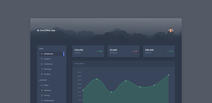Featured Image of Dark Web App Dashboard